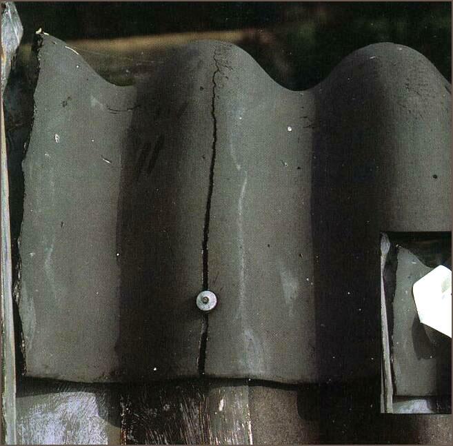 Как отремонтировать трещину на шифере